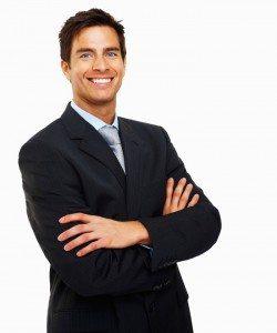 professional man bright smile