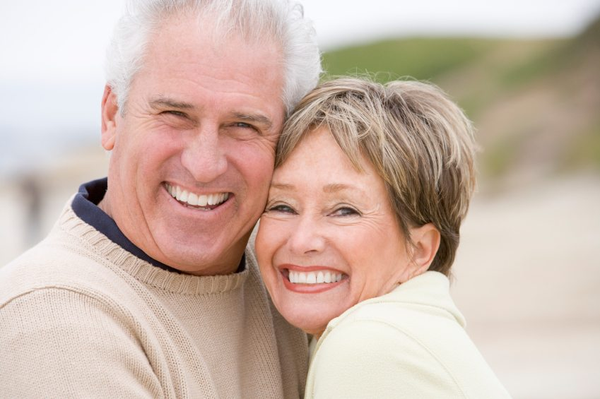 mature couple with nice smiles